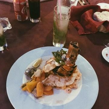 Lobster and mojito