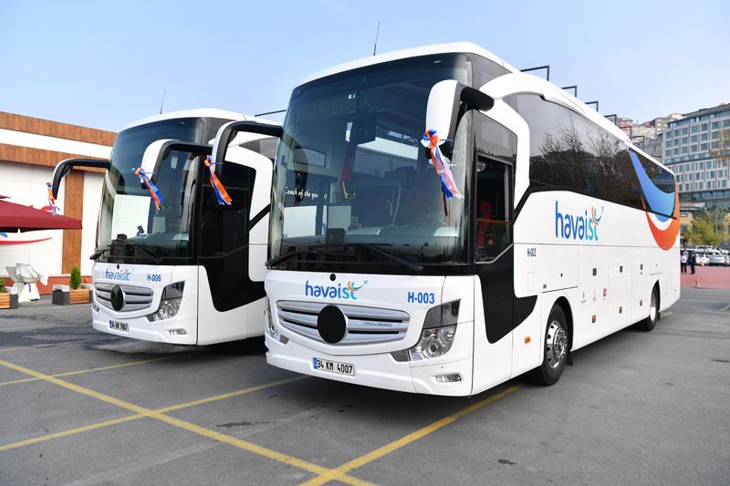 İstanbul Havalimanı HAVAİST HAVAŞ Servis Otobüsleri