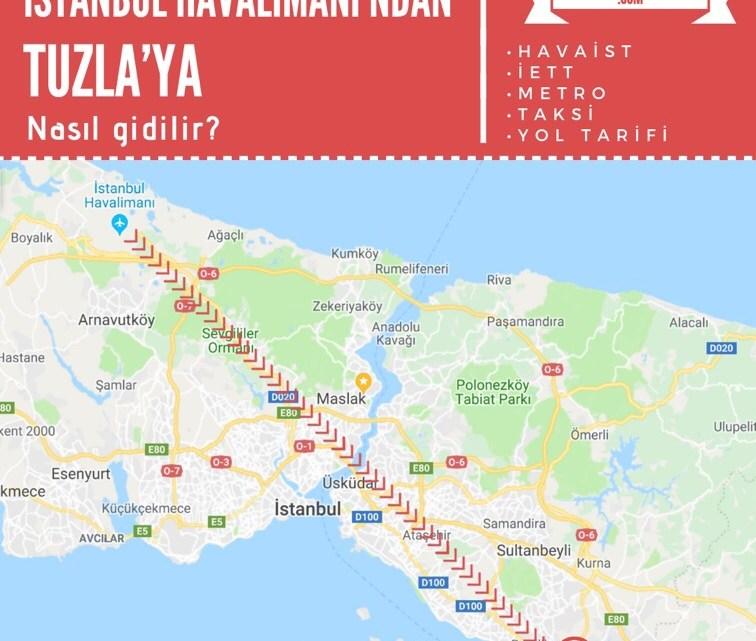 İstanbul Havalimanı'ndan Tuzla'ya Ulaşım Bilgileri