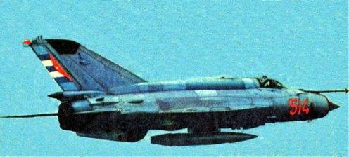 Mig-21MF, numeral 514. Una de las primeras aeronaves de este tipo que participara en la guerra de Angola. Su llegada a Cuba, desde la entonces Unión Soviética, debió haber tenido lugar entre 1972-1974, y su traslado al Africa, a finales de la década del 70.