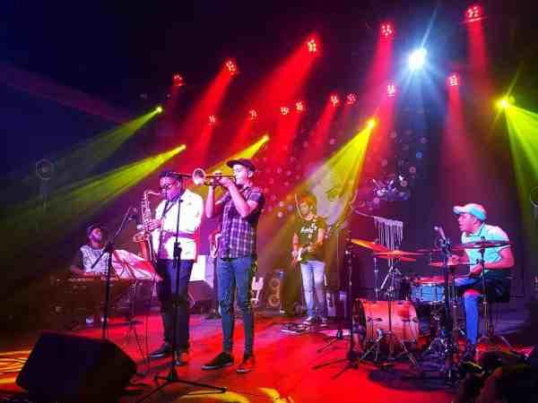 Live Cuban musicians at Fábrica de Arte Cubano in Havana Cuba