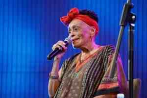 famous Cuban singer Omara portuondo playing with buena vista social club