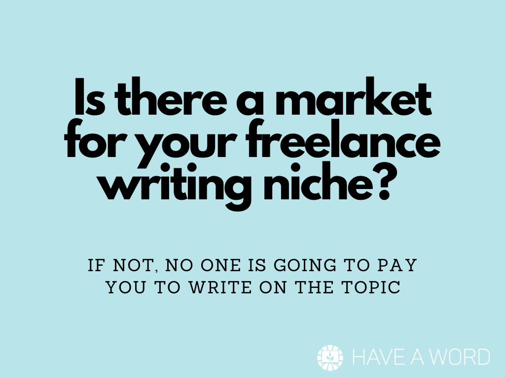 How to choose a freelance writing niche