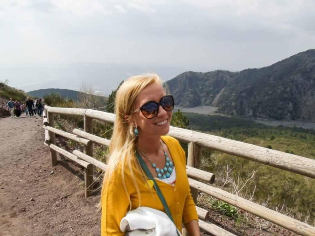 Walking up Mount Vesuvius. Wahoo!