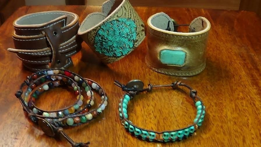 Jewelry made by C&A Leather.