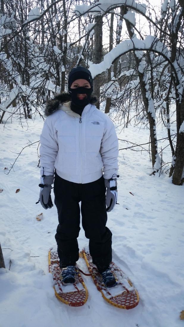 My snowshoeing attire.