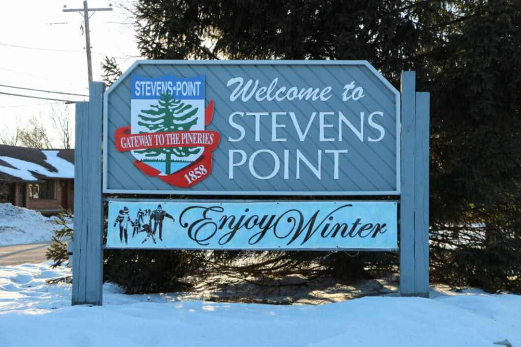 Welcome to Stevens Point sign