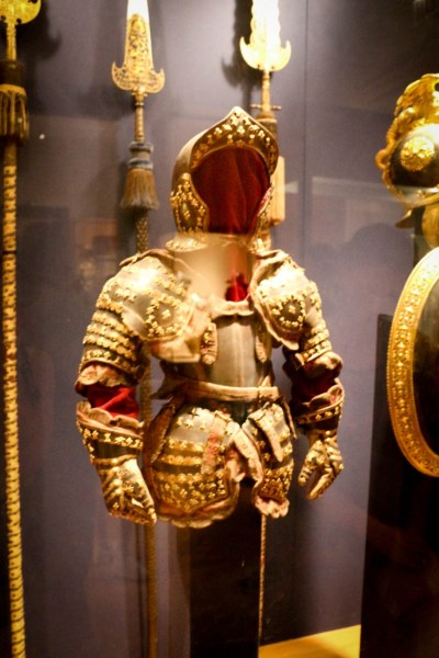 A 5-year-old princes armor.