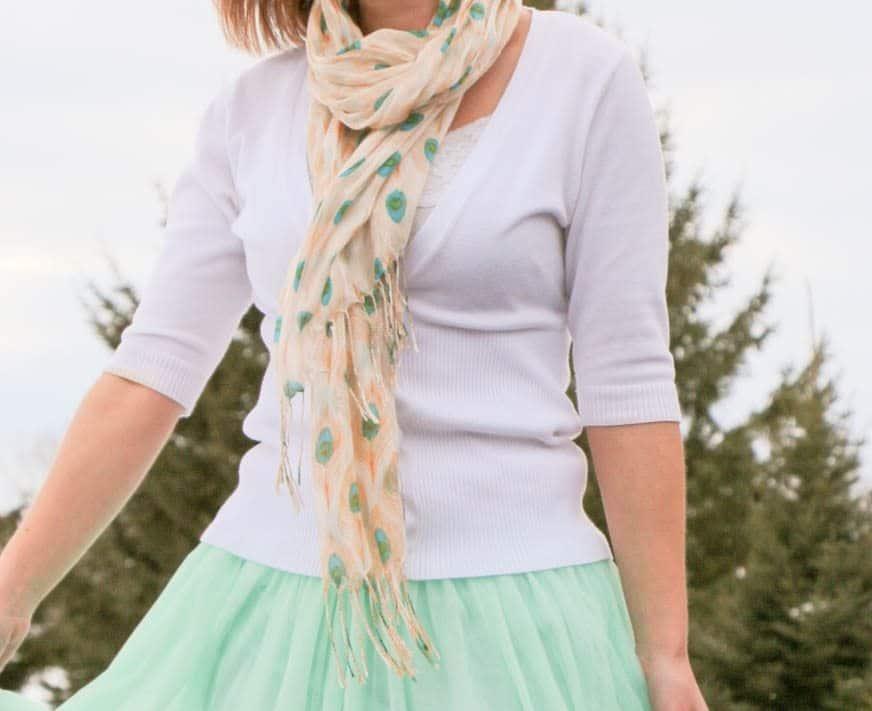 ModCloth Peacock scarf