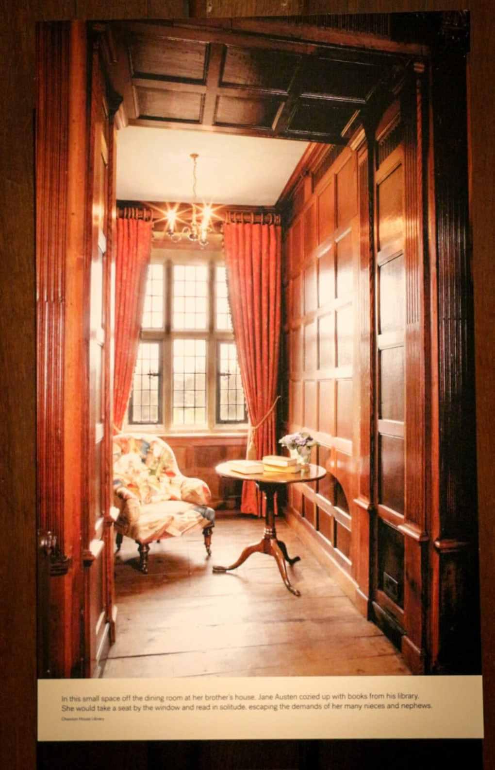 Jane Austen's actual reading room