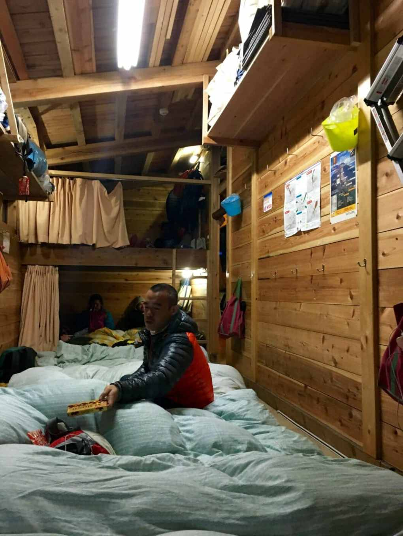 mountain hut mount fuji