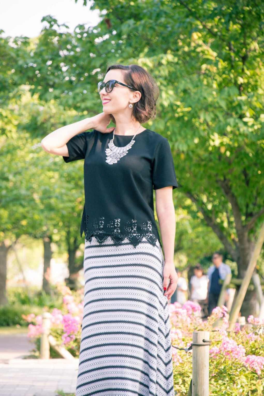 Crop top and maxi skirt
