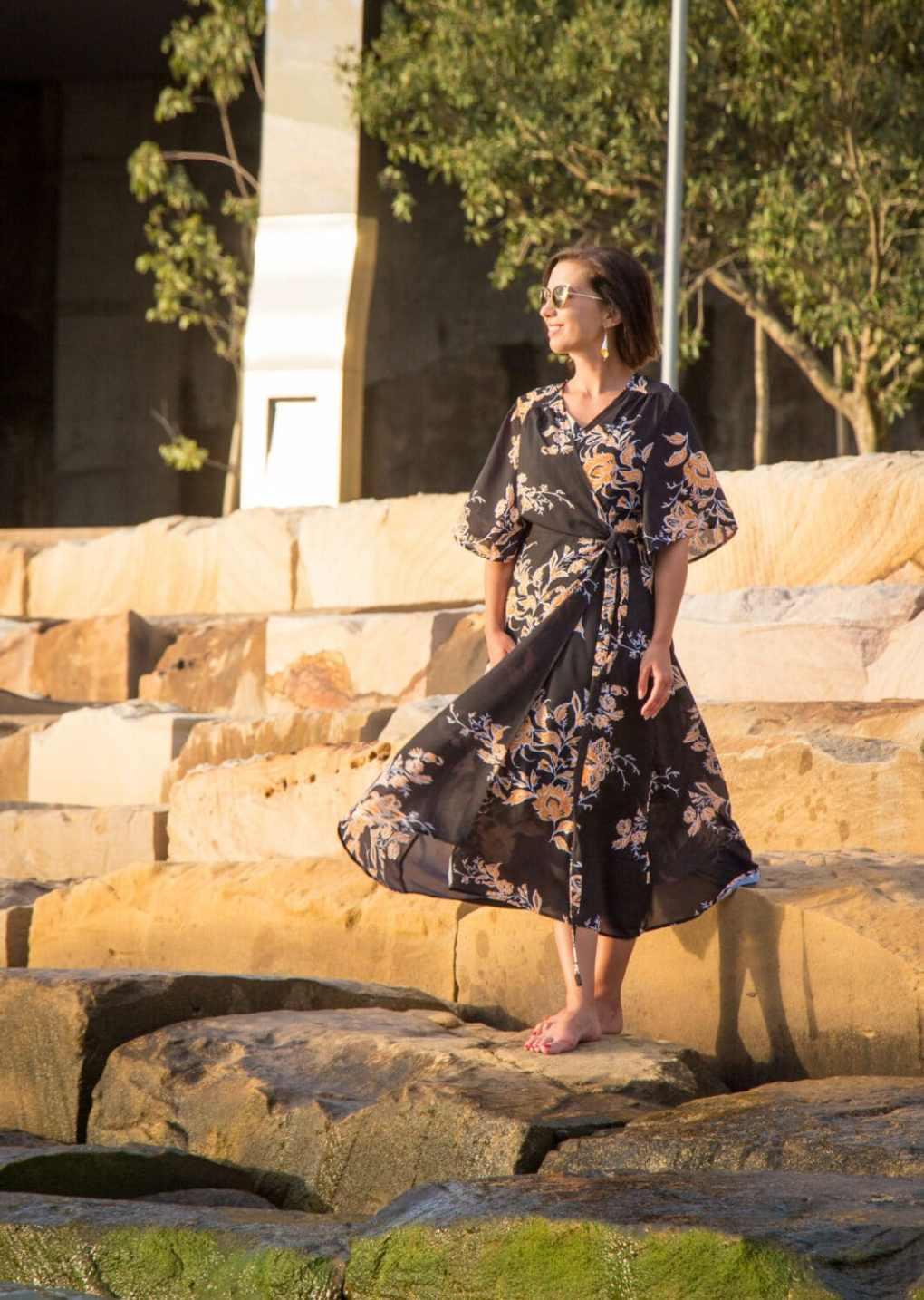 makemechic wrap dress