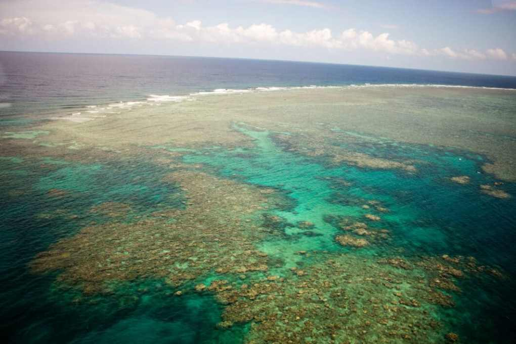 The Great Barrier Reef from above