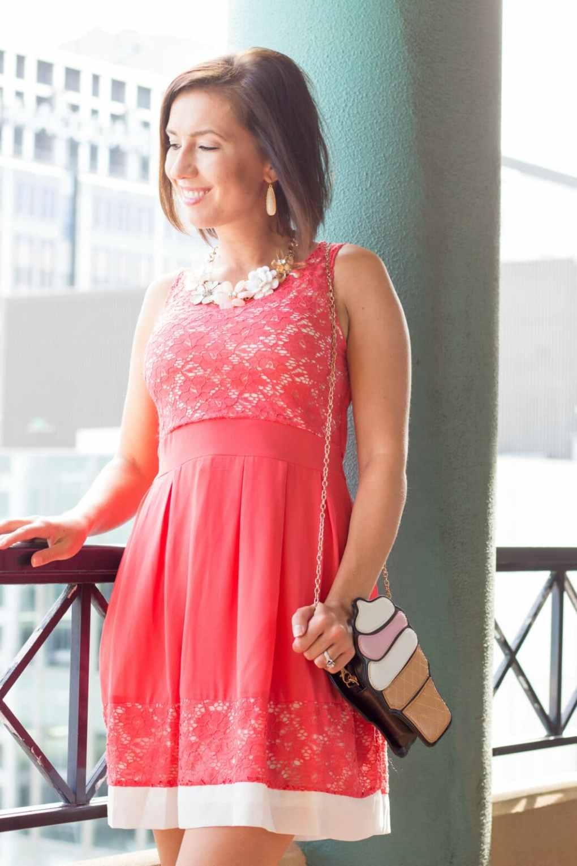 pink lace dress