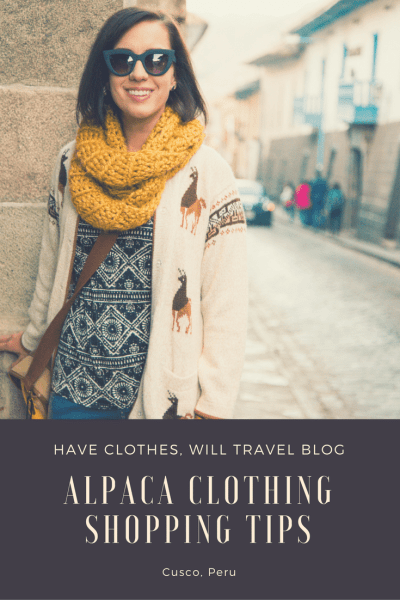 Alpaca Clothing Shopping Tips for Cusco, Peru