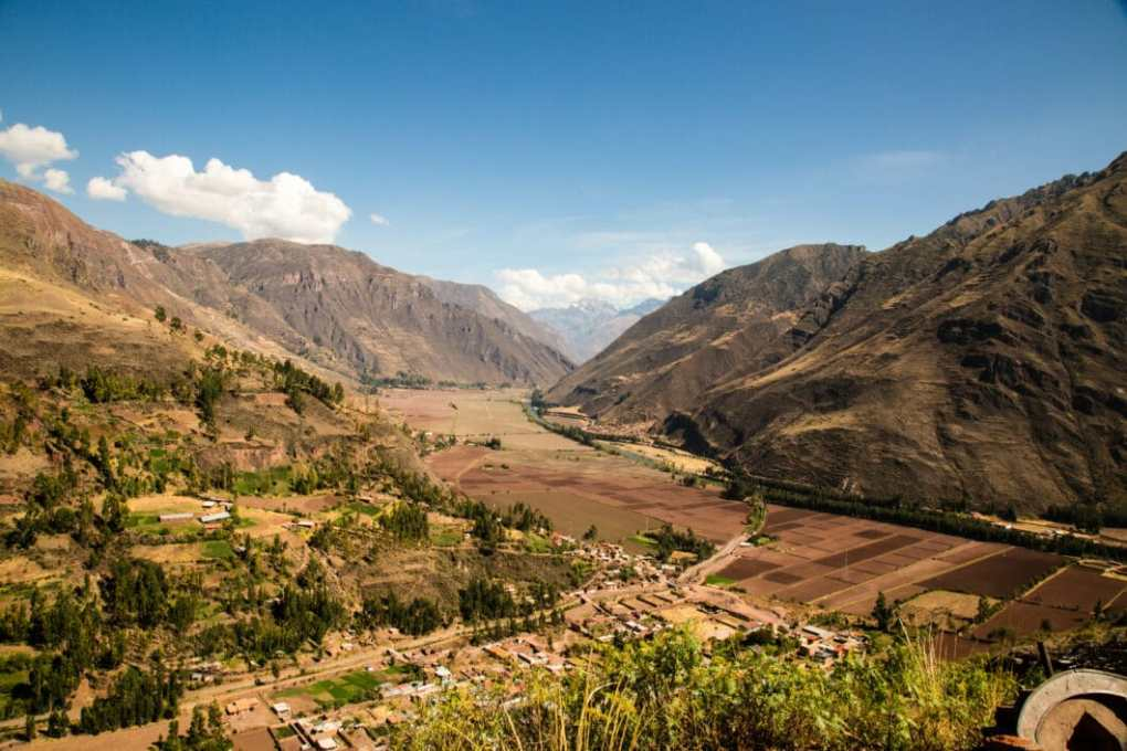 "A view of ""The Sacred Valley"" in Peru."
