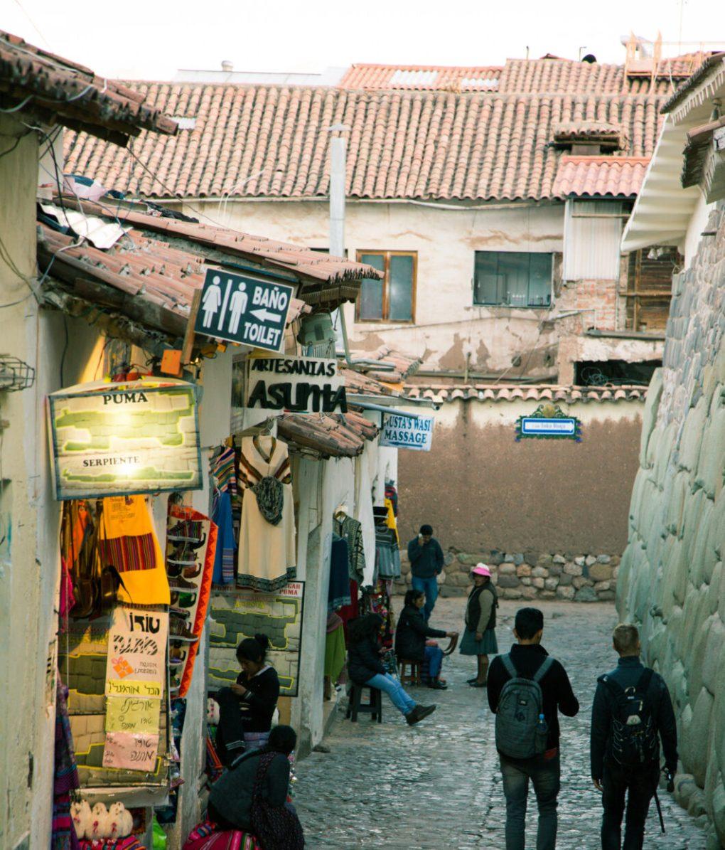 """Artesanías Asunta"" clothing/souvenir shop in Cusco, Peru."