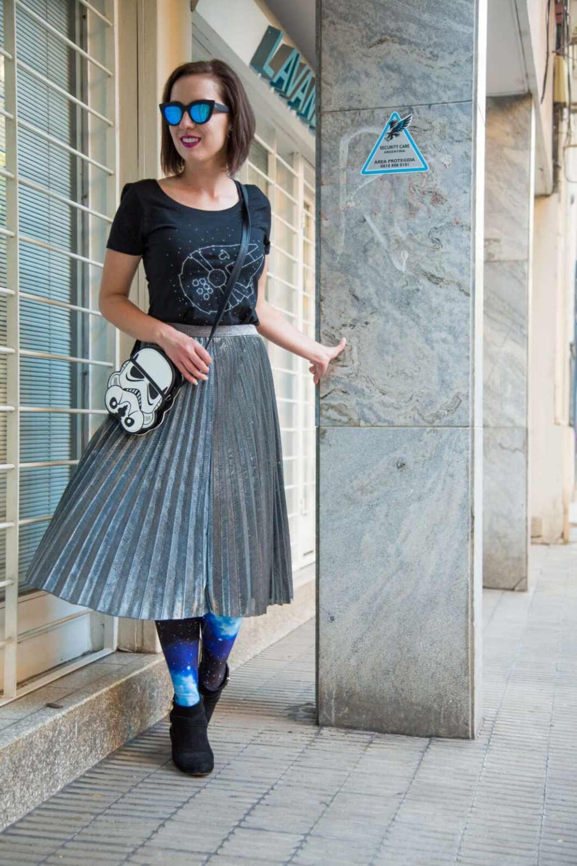 Radish Apparel Millennium Falcon Shirt + Metallic Skirt + Galaxy Leggings