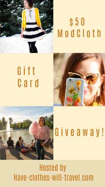 ModCloth Gift Card GIVEAWAY
