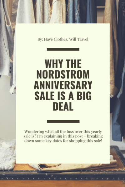 Why the Nordstrom Anniversary Sale is a Big Deal