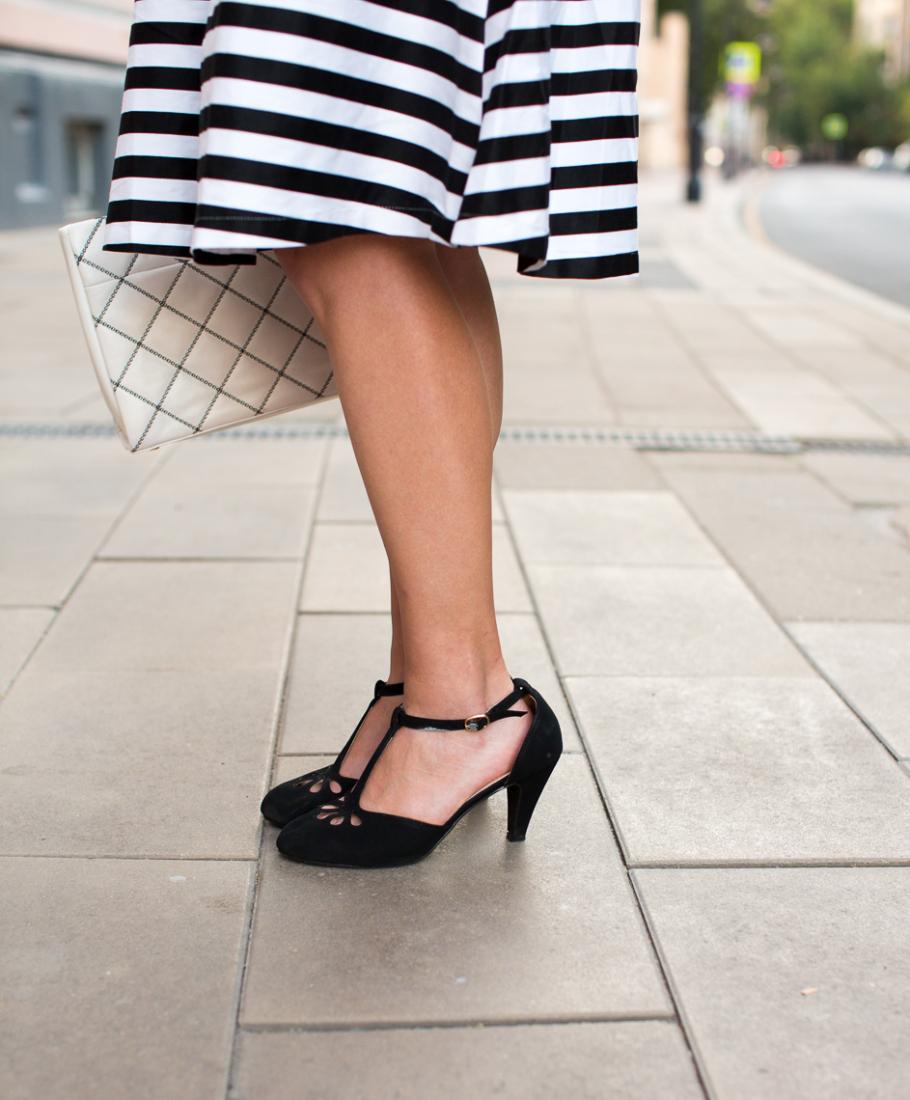 t strap heels