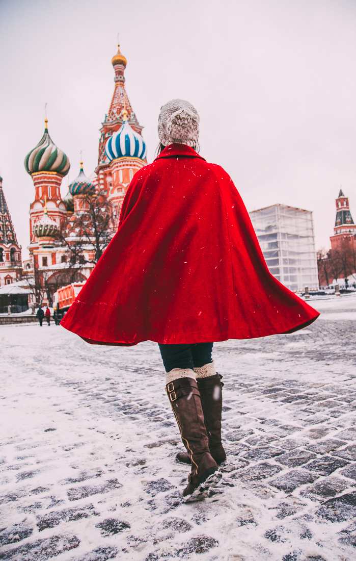 Red Cape at St. Basil's Cathedra