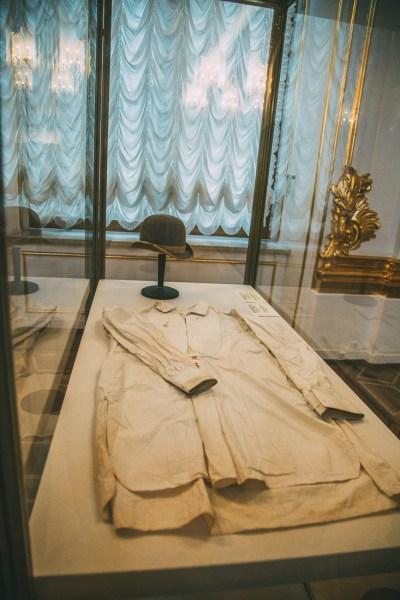 The bloody shirt of Nicholas II.