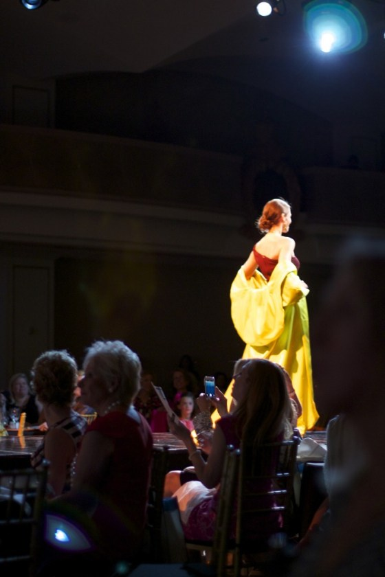The show was rounded out with evening dresses designed by Karen Caldwell Designs.