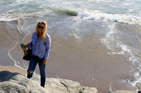 Bow Blouse, Distressed Denim, Santa Cruz, Beach, Weekend wear