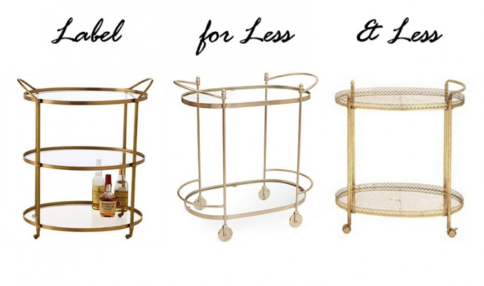bar carts - label for less