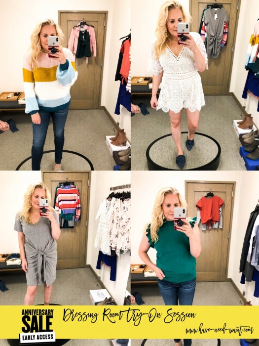2018 Nordstrom Anniversary Sale Early Access Dressing Room Try-On Session