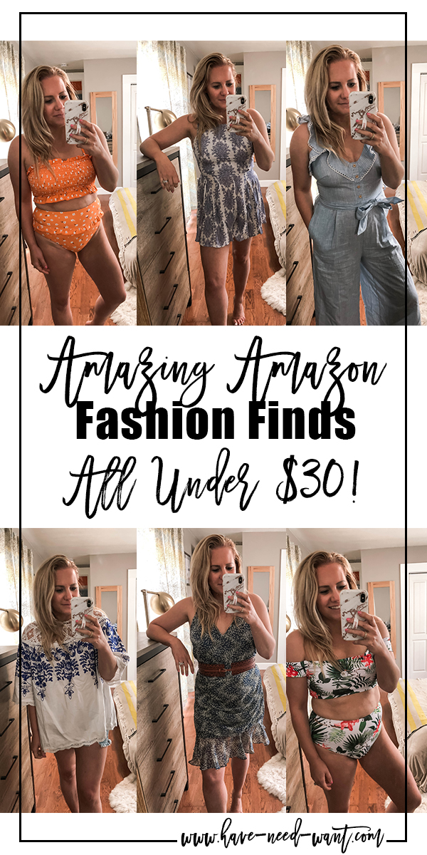 Amazing Amazon Fashion Finds All Under $30! Head over to the blog to check out all my finds!! #amazonfashion #amazonfinds #fashionunder30 #affordablefashion #affordablespringfashion
