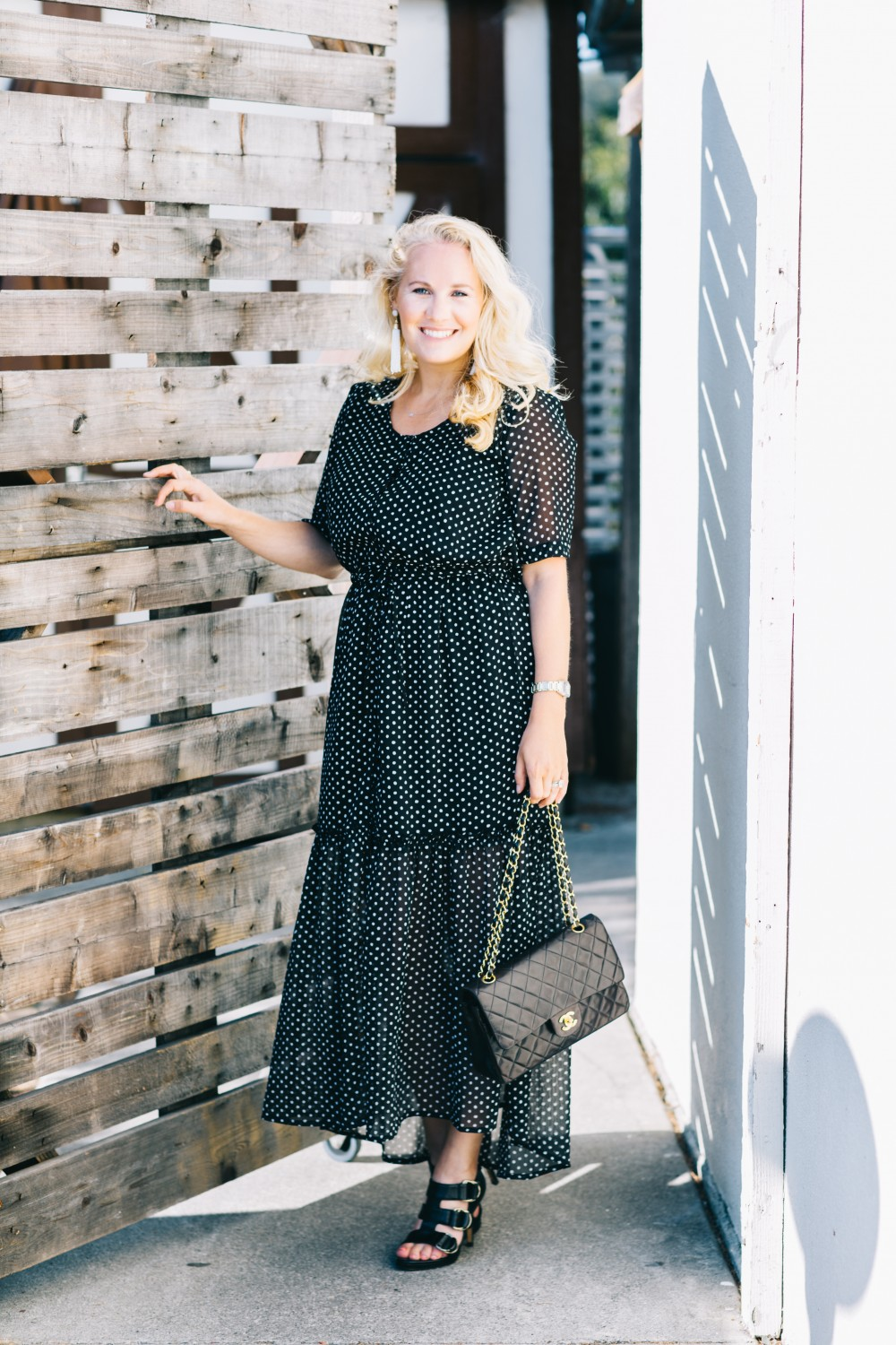 Black and white polka dot dress target