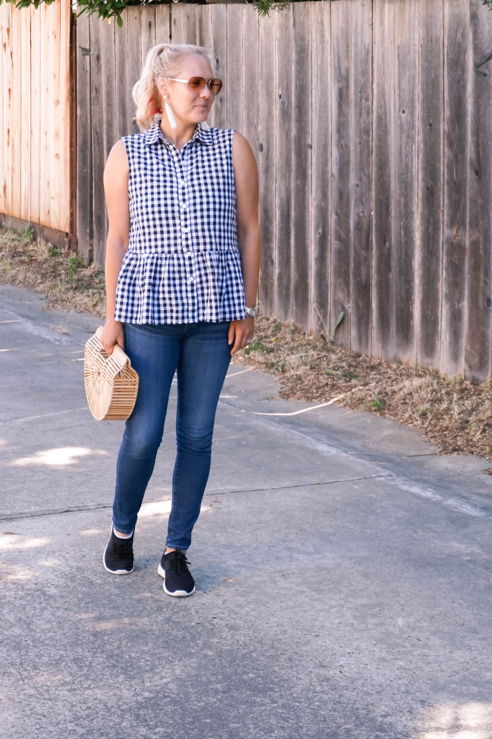 Blogger Off Duty-Daily Outfit Series-Have Need Want-Romwe Gingham Bow Top-Gingham Top-Summer Style-Mom Style-Stylish Moms-Outfit Inspiration 8