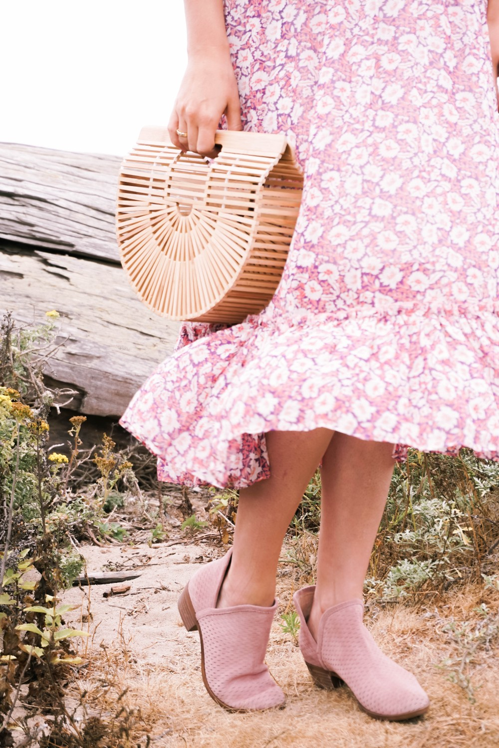 Breezy Beach Dress-Summer Floral Dress-Rebecca Minkoff-Outfit Inspiration-Visit Half Moon Bay-Denim Moto Jacket-Summer Style-Have Need Want 10