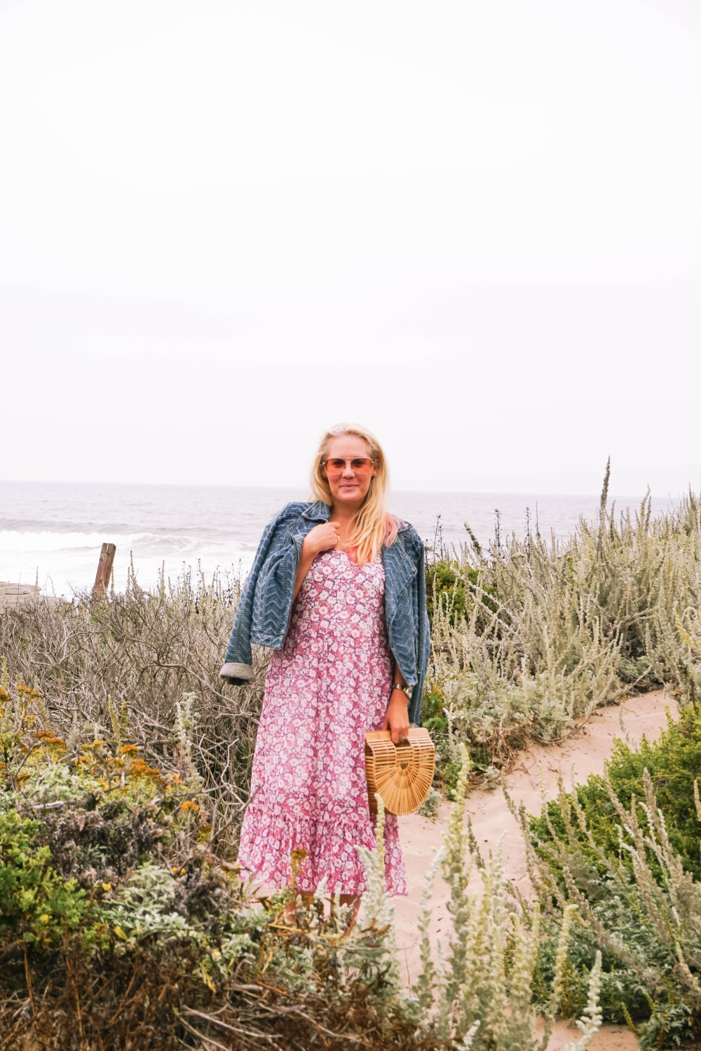 Breezy Beach Dress-Summer Floral Dress-Rebecca Minkoff-Outfit Inspiration-Visit Half Moon Bay-Denim Moto Jacket-Summer Style-Have Need Want 6