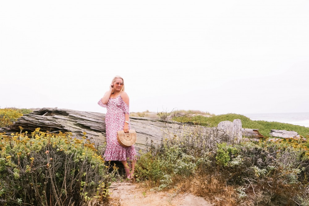 Breezy Beach Dress-Summer Floral Dress-Rebecca Minkoff-Outfit Inspiration-Visit Half Moon Bay-Denim Moto Jacket-Summer Style-Have Need Want 7