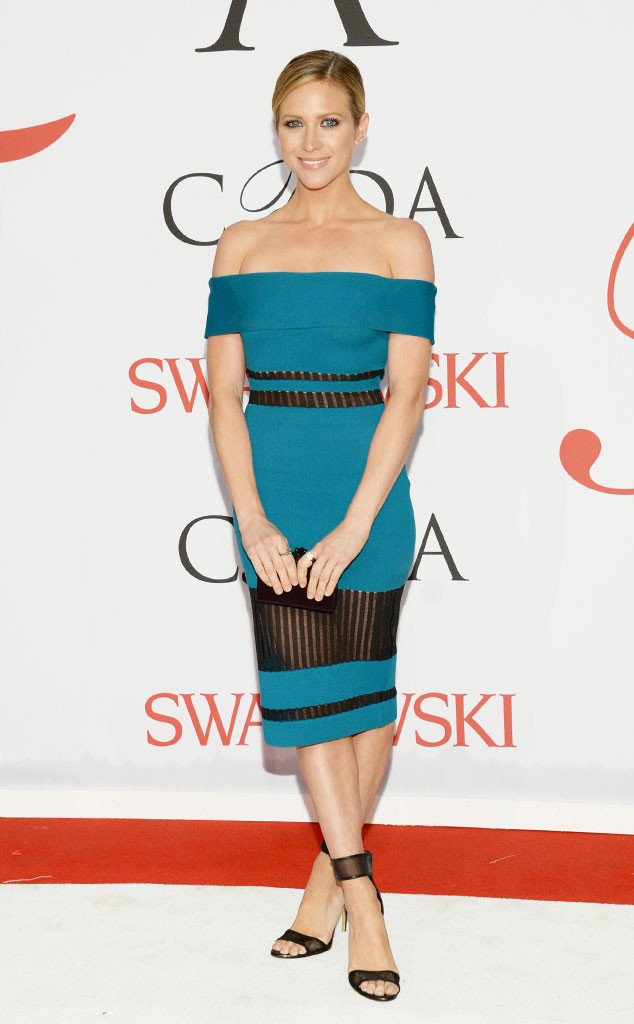 CFDA Fashion Awards Brittany Snow Cerulean Off the shoulder dress