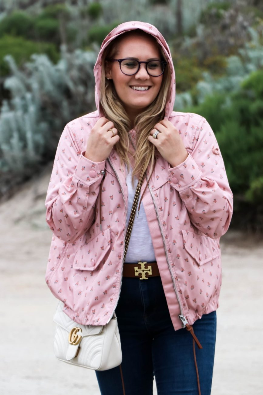 The cutest floral windbreaker to help you through those windy days on the coast this spring and summer. Head over to the blog to see my favorites and get my full outfit details! #windbreaker #coachjacket #coachoutlet #outfitinspo #floraljacket