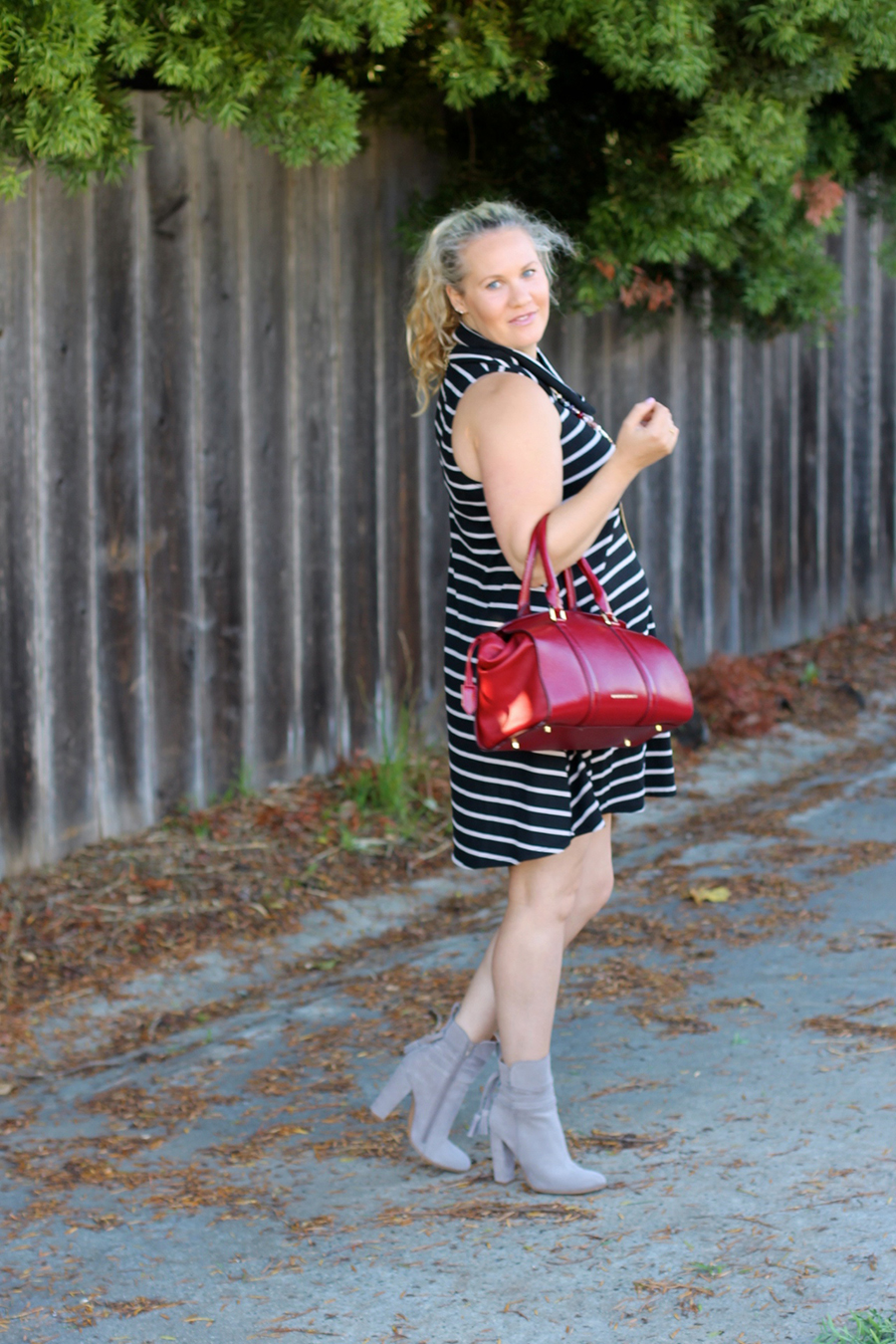 cowl-neck-shift-dress-have-need-want-steve-madden-booties-burberry-handbag-bay-area-fashion-blogger-4