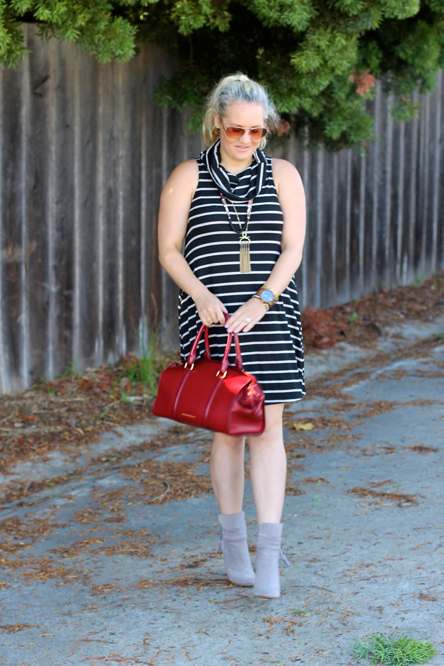cowl-neck-shift-dress-have-need-want-steve-madden-booties-burberry-handbag-bay-area-fashion-blogger-9