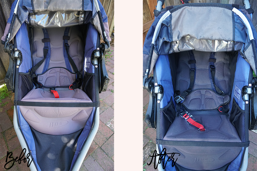 DIY Fabric Paint for BOB Jogging Stroller-Sun Faded Stroller DIY-Upholstery Paint-Weekend DIY