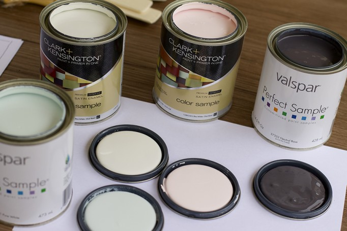DIY Full Length Mirror Paint Project Valspar Paint Ace Hardware Clark+Kensington Paint Pint Color Samples 3