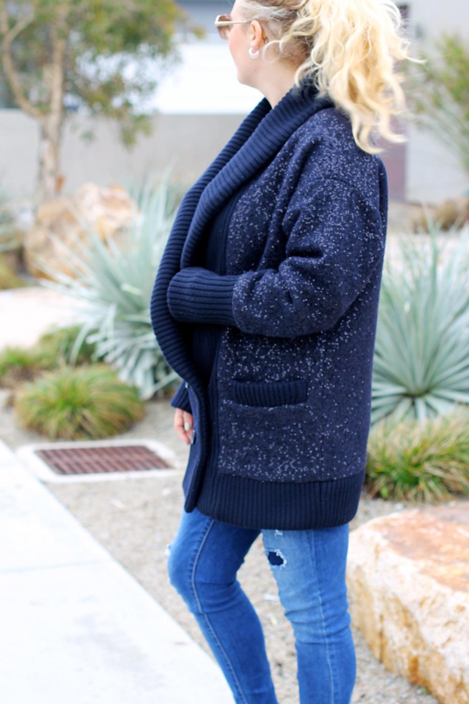 Sequin Embellished Cardigan | DVF Zayde Embellished Cardigan
