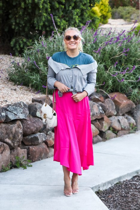 From day to night styling a graphic tee on Have Need Want! Head over to the blog to check out how I transitioned a trendy graphic tee from casual to dressed up with a few simple swaps! #graphictee #stylingtips #targetstyle #summeroutfit #outfitinspiration