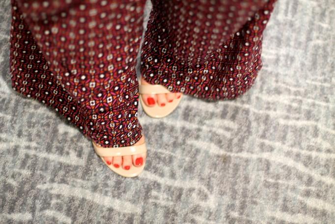 Defy & Inspire Nail Polish-Target Style Beauty-The Final Rose-Perfect Red Nail Polish-Mossimo Print pants 3