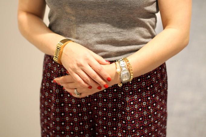Defy & Inspire Nail Polish-Target Style Beauty-The Final Rose-Perfect Red Nail Polish-Mossimo Print pants 5