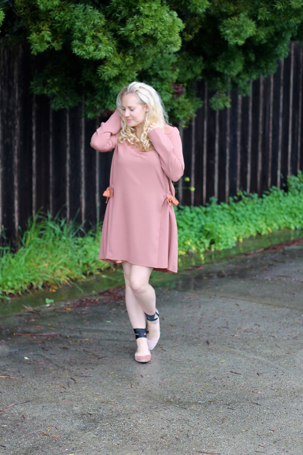 Dusty Pink Dress-See by Chloe-Valentines Day Outfit-Outfit Inspiration-Ankle Tie Flats-Have Need Want 8