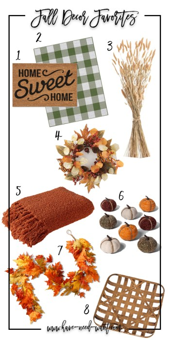 Sharing my favorite fall home and porch decor on the blog today! Head on over to the post to check it out!! #homedecor #seasonaldecor #porchdecor #falldecor